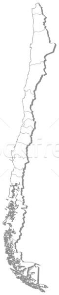 Térkép Chile politikai néhány régiók absztrakt Stock fotó © Schwabenblitz