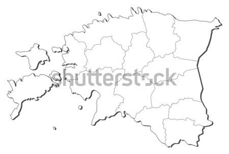 地図 エストニア 政治的 いくつかの 抽象的な 地球 ストックフォト © Schwabenblitz