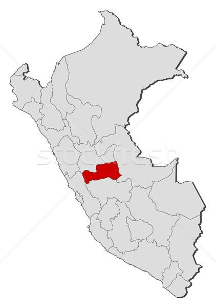 Mapa Peru político vários regiões globo Foto stock © Schwabenblitz