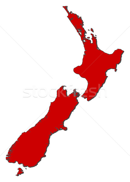 Kaart New Zealand politiek verscheidene regio abstract Stockfoto © Schwabenblitz