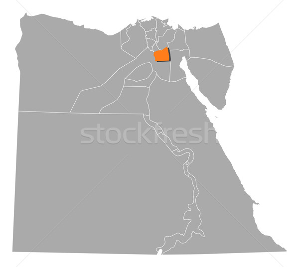 Map of Egypt, Cairo highlighted Stock photo © Schwabenblitz