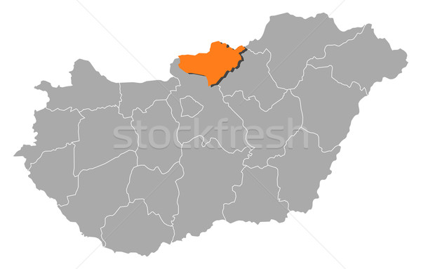 Map of Hungary, N Stock photo © Schwabenblitz