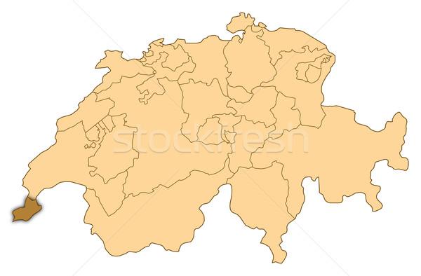 Harita İsviçre soyut arka plan iletişim Stok fotoğraf © Schwabenblitz
