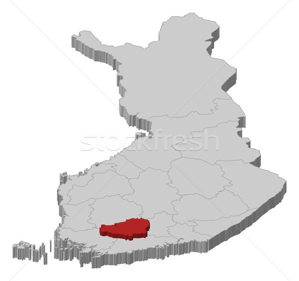 Map of Finland, Tavastia Proper highlighted Stock photo © Schwabenblitz