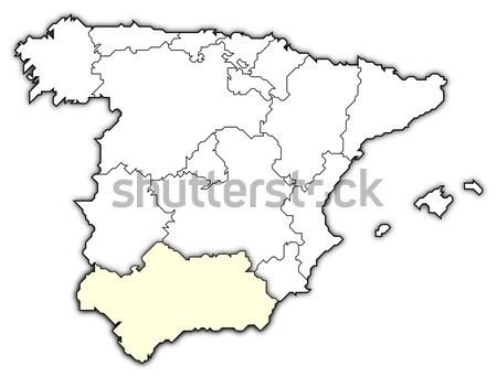 Map Of Spain Jpg.Map Of Spain Stock Photo C Sergej Gomulin Schwabenblitz 2424753