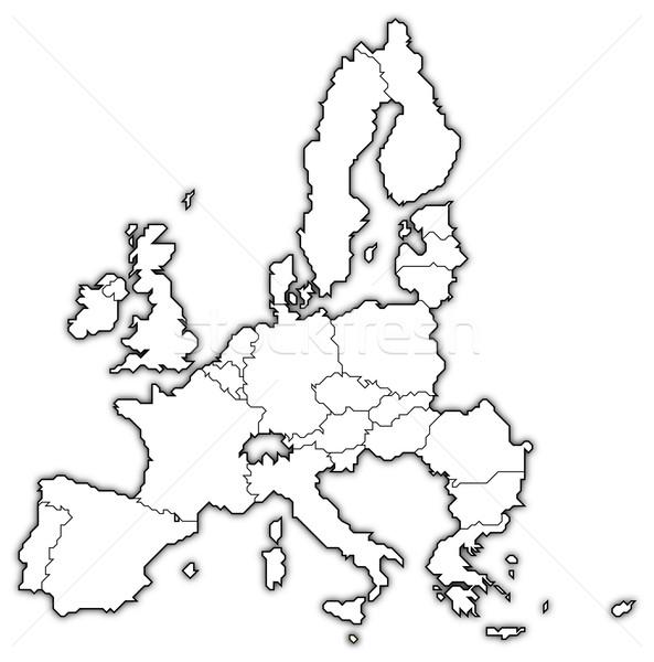 Mappa unione Malta politico parecchi Foto d'archivio © Schwabenblitz