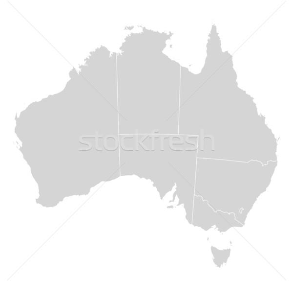 Kaart Australië politiek verscheidene abstract kunst Stockfoto © Schwabenblitz
