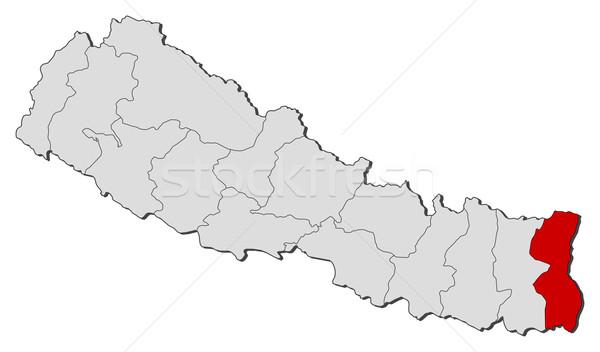 Mapa Nepal político vários globo abstrato Foto stock © Schwabenblitz