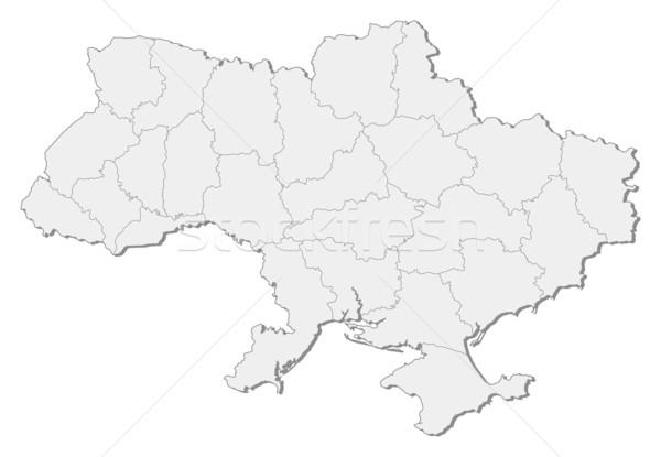 Map of Ukraine Stock photo © Schwabenblitz