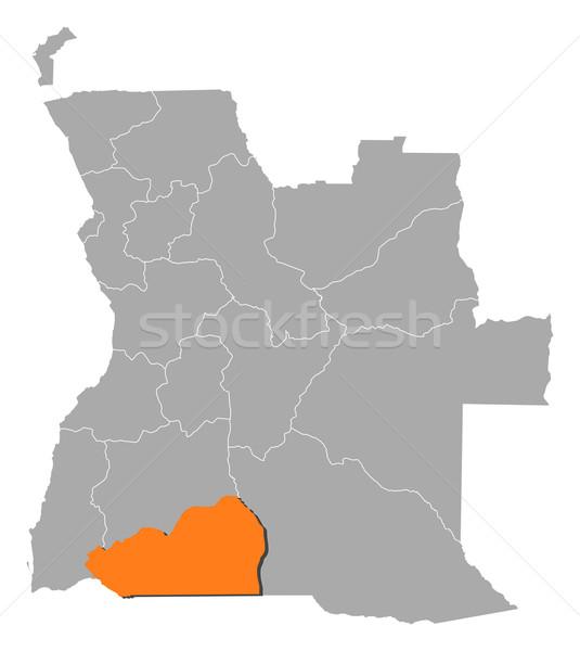 Photo stock: Carte · Angola · politique · plusieurs · résumé · fond