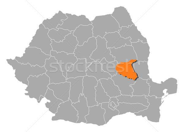 Mapa Rumania político resumen fondo Foto stock © Schwabenblitz