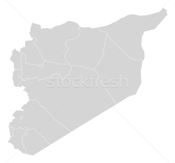 地図 シリア 政治的 いくつかの 抽象的な 世界 ストックフォト © Schwabenblitz