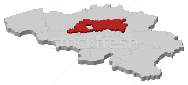 Map of Belgium, Flemish Brabant highlighted Stock photo © Schwabenblitz