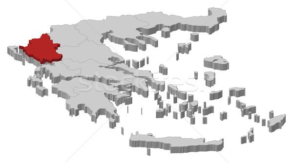 Kaart Griekenland politiek verscheidene abstract achtergrond Stockfoto © Schwabenblitz