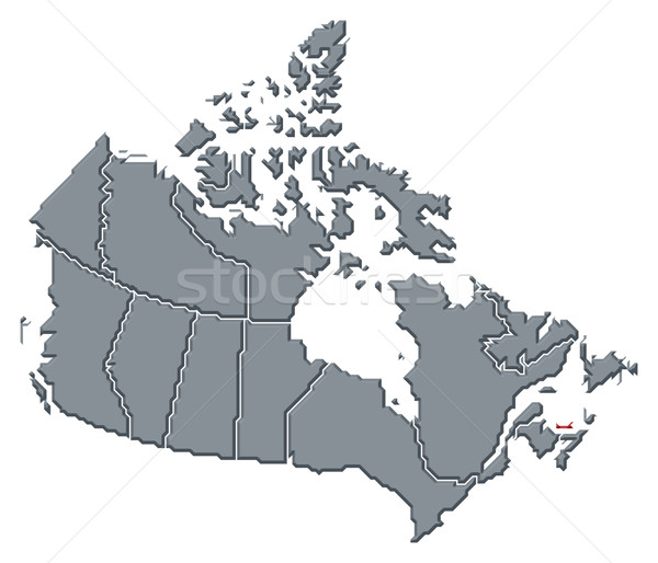 Map of Canada, Prince Edward Island highlighted Stock photo © Schwabenblitz