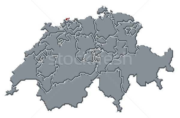 Stock fotó: Térkép · politikai · néhány · absztrakt · háttér · kommunikáció