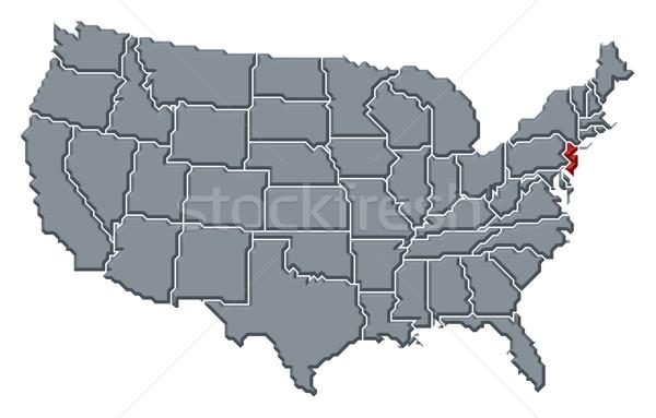 Mappa Stati Uniti New Jersey politico parecchi abstract Foto d'archivio © Schwabenblitz