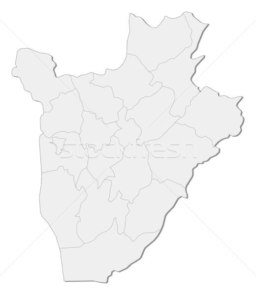 Mapa Burundi abstrato mundo fundo vermelho Foto stock © Schwabenblitz
