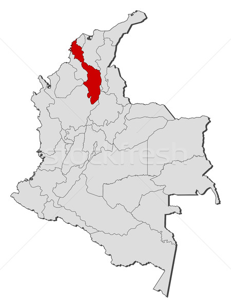 Map - Colombia, Bolivar Stock photo © Schwabenblitz