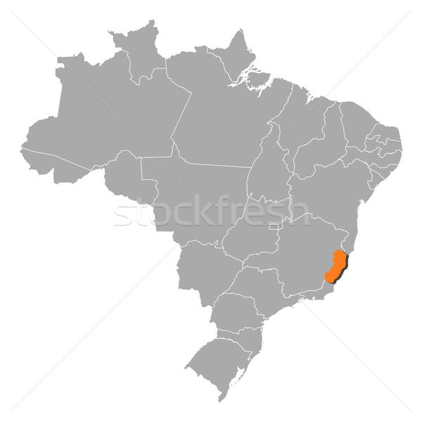 Stock photo: Map of Brazil, Esp