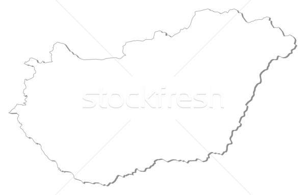 Сток-фото: карта · Венгрия · политический · несколько · аннотация · Мир
