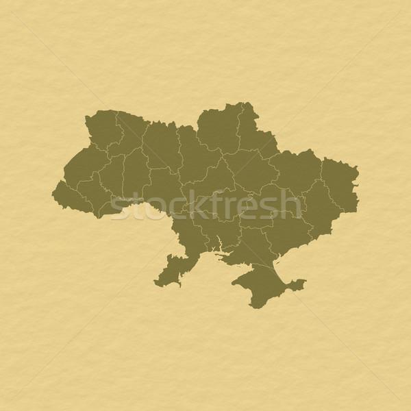 Pokaż Ukraina polityczny kilka streszczenie świat Zdjęcia stock © Schwabenblitz