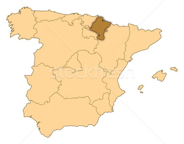 карта Испания аннотация фон связи черный Сток-фото © Schwabenblitz