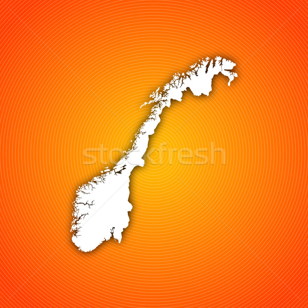 Stok fotoğraf: Harita · Norveç · siyasi · birkaç · soyut · dünya