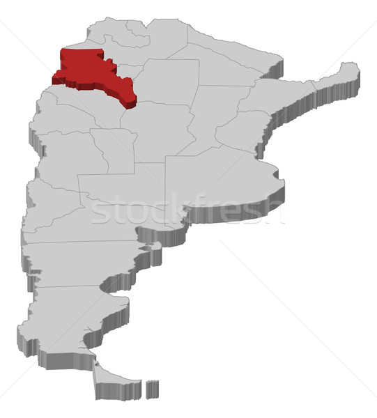 Map of Argentina, Catamarca highlighted Stock photo © Schwabenblitz
