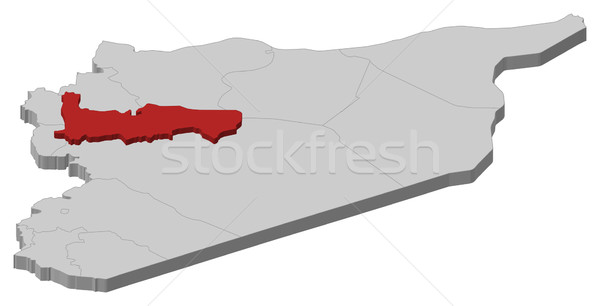 Mapa Síria político vários abstrato fundo Foto stock © Schwabenblitz