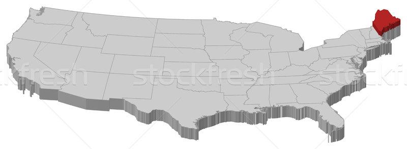 Kaart Verenigde Staten Maine politiek verscheidene abstract Stockfoto © Schwabenblitz