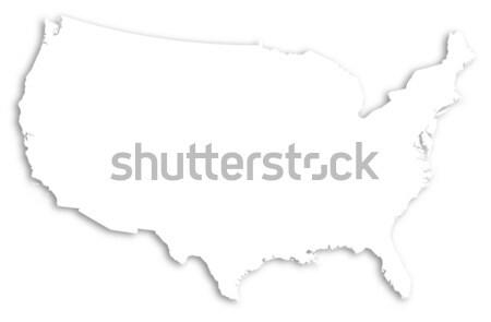 карта Соединенные Штаты политический несколько аннотация Мир Сток-фото © Schwabenblitz