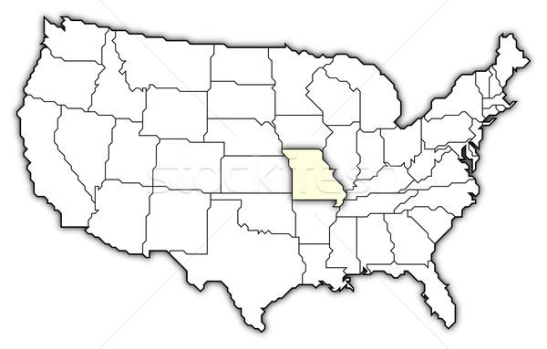 Mapa Estados Unidos Misuri político resumen Foto stock © Schwabenblitz