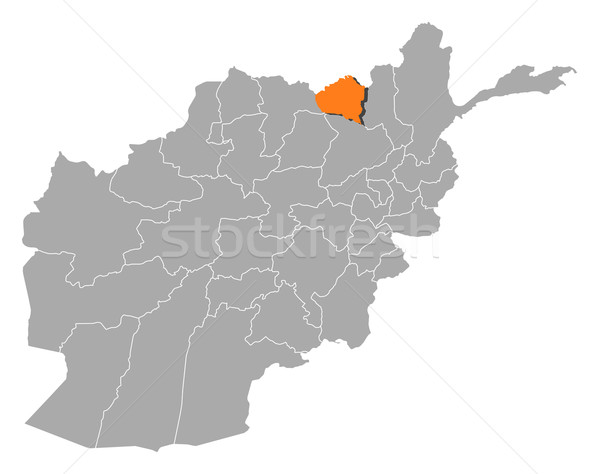 Map of Afghanistan, Kunduz highlighted Stock photo © Schwabenblitz