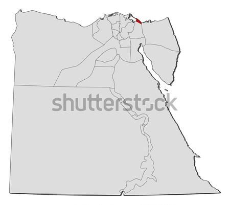 Térkép Egyiptom politikai néhány absztrakt Föld Stock fotó © Schwabenblitz