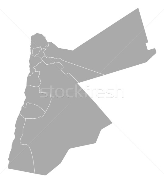 Map of Jordan Stock photo © Schwabenblitz