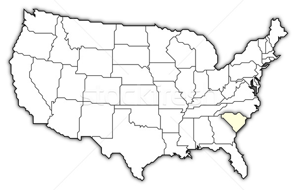 Mapa Estados Unidos South Carolina político vários abstrato Foto stock © Schwabenblitz