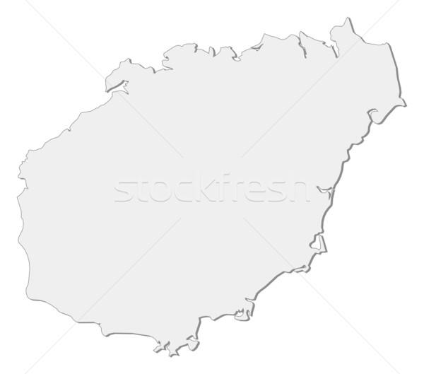 Map of Hainan (China) Stock photo © Schwabenblitz