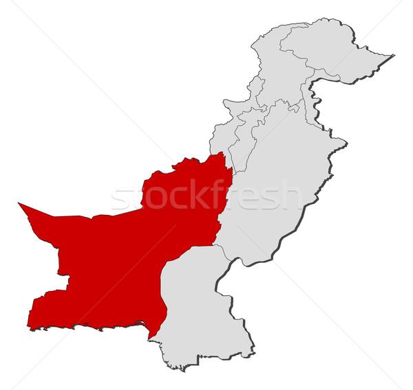 Kaart Pakistan politiek verscheidene wereldbol abstract Stockfoto © Schwabenblitz
