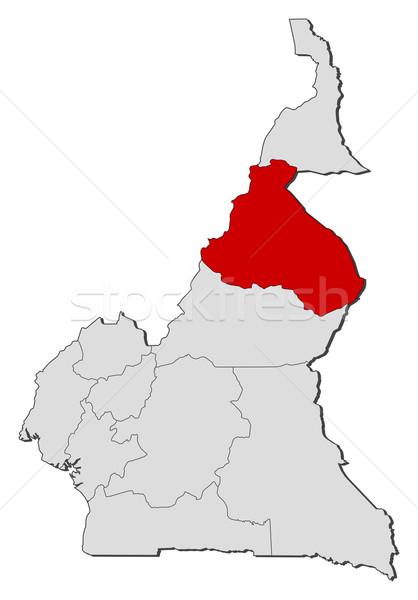 Pokaż Kamerun na północ polityczny kilka regiony Zdjęcia stock © Schwabenblitz