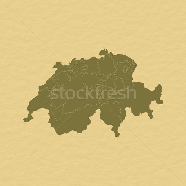 Stock photo: Map of Swizerland