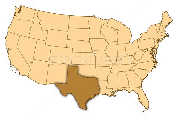 Stok fotoğraf: Harita · Amerika · Birleşik · Devletleri · Teksas · soyut · arka · plan · iletişim