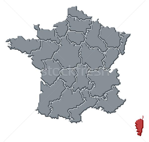 Harita Fransa korsika siyasi birkaç bölgeler Stok fotoğraf © Schwabenblitz