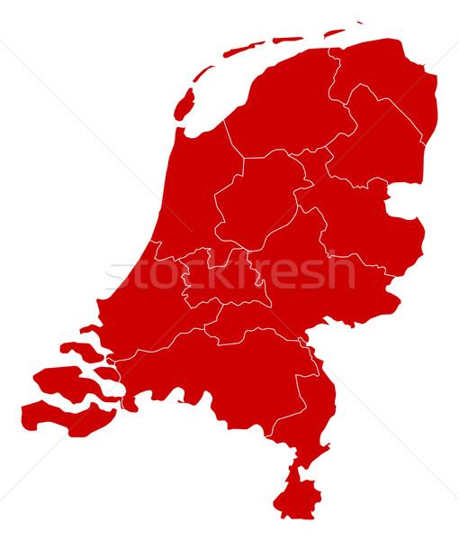 карта Нидерланды черный аннотация фон красный Сток-фото © Schwabenblitz
