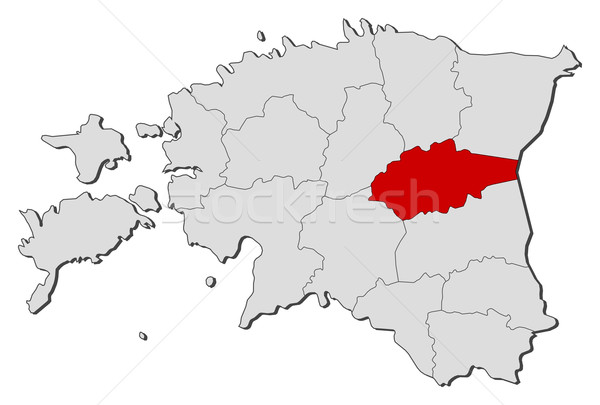 Mapa Estônia político vários globo abstrato Foto stock © Schwabenblitz