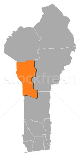 Mappa Benin abstract sfondo comunicazione silhouette Foto d'archivio © Schwabenblitz