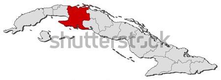 地図 キューバ ハバナ 政治的 いくつかの 抽象的な ストックフォト © Schwabenblitz