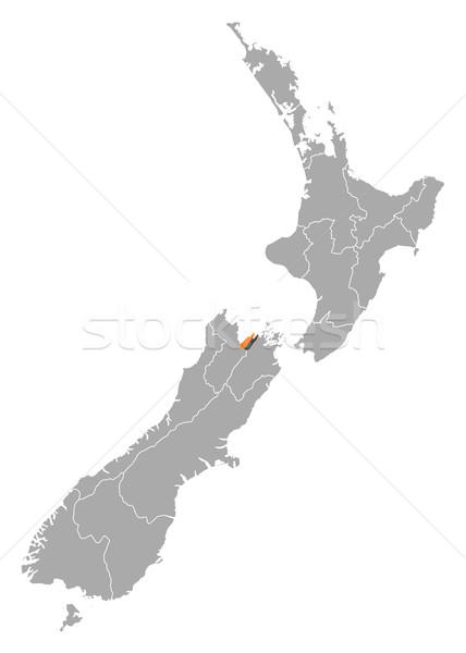 Map of New Zealand, Nelson highlighted Stock photo © Schwabenblitz
