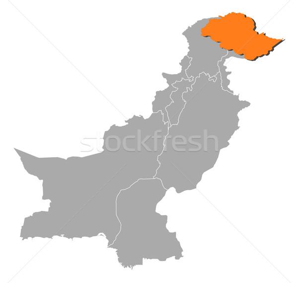 Kaart Pakistan politiek verscheidene abstract achtergrond Stockfoto © Schwabenblitz