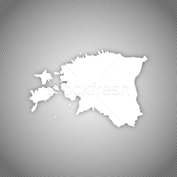 Kaart Estland politiek verscheidene abstract wereld Stockfoto © Schwabenblitz